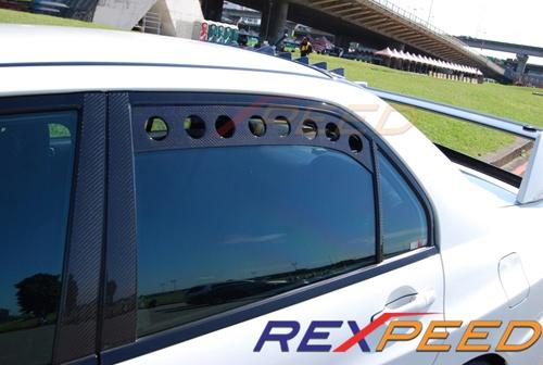 Rexpeed Carbon Fiber Rear Window Vent Set Evo 8 9 Evo