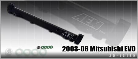 AEM High Volume Fuel Rail - EVO 8/9