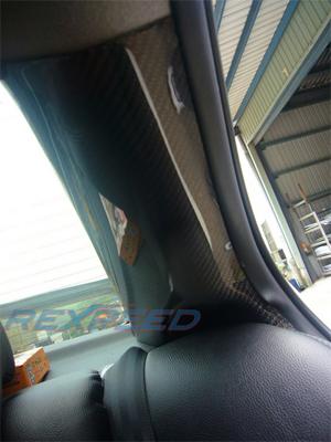 Rexpeed Carbon Fiber C-Pillar Set - EVO X :: EVO 8/9