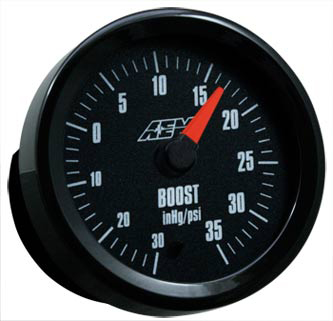 AEM Analog Boost Gauge -30 to 35PSI
