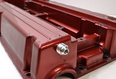 Buschur Racing Valve Cover Front -AN Fitting - EVO 8/9