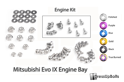 Dress Up Bolts Titanium Engine Kit - EVO 9