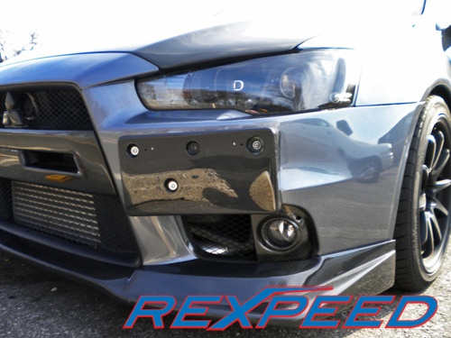 Rexpeed Carbon Fiber Front License Plate Bracket Evo X