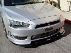 APR Carbon Fiber Wind Splitter - Lancer 08+