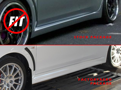 B-Magic XRS-2 Style Carbon Fiber Side Skirts - EVO X 2008-2012 w/Aero Sport Package :: EVO X ...