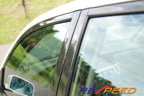 Carbon Fiber Door B Pillar Panel Cover Set for Mitsubishi Evolution EVO 7 8 /& 9