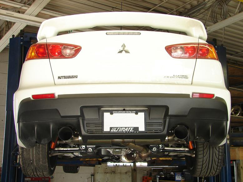 Detailed Images: Evo X Ultimate Racing Exhaust At Woreks.co