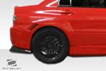 Extreme Dimensions Duraflex VT-X Wide Body Rear Fender Flares - 2 Piece - Evo 8/9