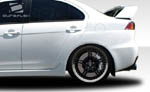 Extreme Dimensions 4PC Duraflex Evo X Look Rear Fender Flares - 08-15 Lancer