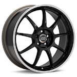 Enkei RSM9 Black with Mach Lip set of 4 wheels - Evo 8/9/X
