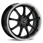 Enkei Tenjin Set of 4 Black with Machined Lip Wheels - Evo 8/9/X