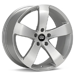 Enkei GP5 Silver Machined with Clear Coat Set of 4 Wheels - Evo X