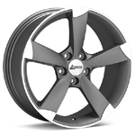 Andros R9 Set of 4 Machined with light Grey Accent Wheels - Lancer Ralliart