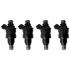 Deatschwerks 1200cc Low Impedance Top Fee Injectors Set of 4 - EVO 8/9