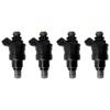 Deatschwerks 1200cc Low Impedance Top Fee Injectors Set of 4 - EVO 8/9