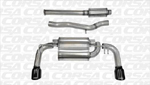 Corsa Catback Exhaust Black Tips- Evo X