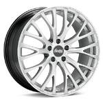 Advanti FS Fastoso Bright Silver with Mach Lip Set of 4 Wheels - Evo X/Ralliart