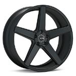 KMC685 Set of 4 Black Painted Wheels - Evo X