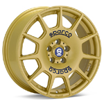 Sparco Gold Painted Set of 4 Wheels - Lancer Ralliart
