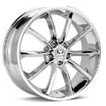 Lorenzo Chrome Plated Set of 4 Wheels - Evo X