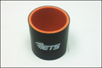 """ETS 2.5"""" Straight Black Silicone Coupler"""