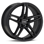 Rial P10 Black Painted Set of 4 Wheels - Evo X/Ralliart