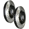 StopTech SportStop Rear Drilled Rotors - EVO X