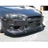 APR Carbon Fiber Front Splitter with Rods - EVO X w/Factory Aero Lip