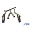 Agency Power Ti Tip Dual Catback Exhaust - EVO X