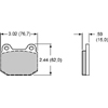Wilwood ProMatrix Rear Brake Pads - EVO 8/9
