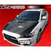 VIS Racing EVO X Style Carbon Fiber Hood - Lancer GTS, ES, & DE