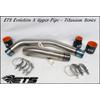 ETS Mitsubishi Evo X and Evolution X Titanium Upper Intercooler Pipe Kit 2008-2015