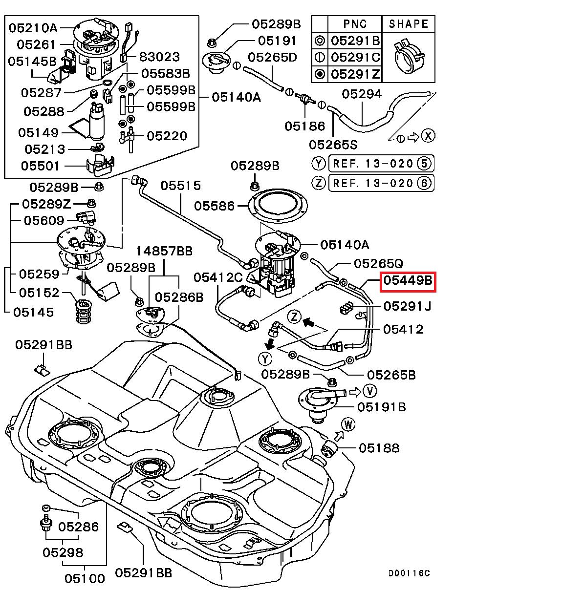 Mitsubishi OEM Fuel Line Pipe - EVO 8/9