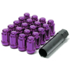 Muteki SR35 Purple Closed End Lug Nuts w/Lock Set 2x1.50 35mm