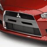 Mitsubishi OEM Front Lip Phantom Black - EVO X