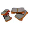 WORKS WRP Orange Rear Brake Pads- EVO X