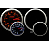 ProSport 60mm Electric Oil Pressure Gauge Amber/White