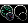 ProSport 52mm Electric Oil Pressure Gauge Green/White