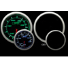 ProSport 52mm Electric Oil Temperature Gauge Green/White