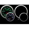 ProSport 52mm Electric Water Temperature Gauge Green/White