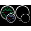 ProSport 52mm Electric Boost Gauge Green/White