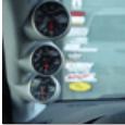 Triple EVO Full A-Pillar Gauge Pod Grey 52mm Without Tweeter Cutout