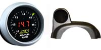AEM UEGO Wideband Gauge Kit + Autometer Single Steering Wheel Gauge Pod COMBO DEAL