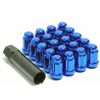 Muteki SR35 Blue Lug Nuts Close End 12x1.50