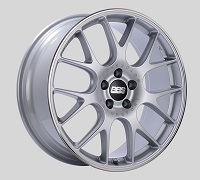 BBS CH-R 19x8 5x114.3 ET38 Brilliant Silver Polished Rim Protector Wheels -82mm PFS/Clip Required