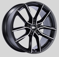 BBS XA 18x8.5 5x114.3 ET45 Satin Black Diamond Cut Face Wheels -82mm PFS/Clip Required
