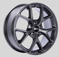 BBS SR 17x7.5 5x100 ET48 Satin Grey Wheels -70mm PFS/Clip Required