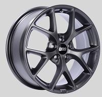 BBS SR 17x7.5 5x100 ET48 Satin Grey Wheels -70mm PFS/Clip Required