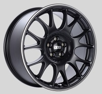 BBS CH 18x8.5 5x100 ET30 Satin Black Polished Rim Protector Wheels -70mm PFS/Clip Required