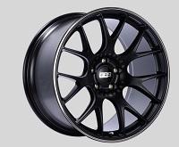 BBS CH-R 20x10.5 5x114.3 ET24 CB66 Satin Black Polished Rim Protector Wheels